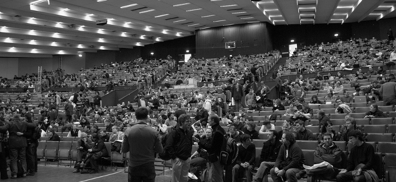 FOSDEM crowd